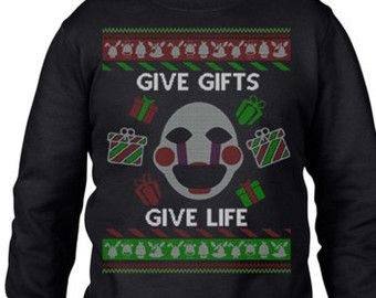 Ugly Christmas Sweater, Five Nights At Freddys, 5 Nights at Freddys, Fnaf, Ugly Christmas Party, Sweatshirt,Ugly Sweater Party, Ugly Sweater