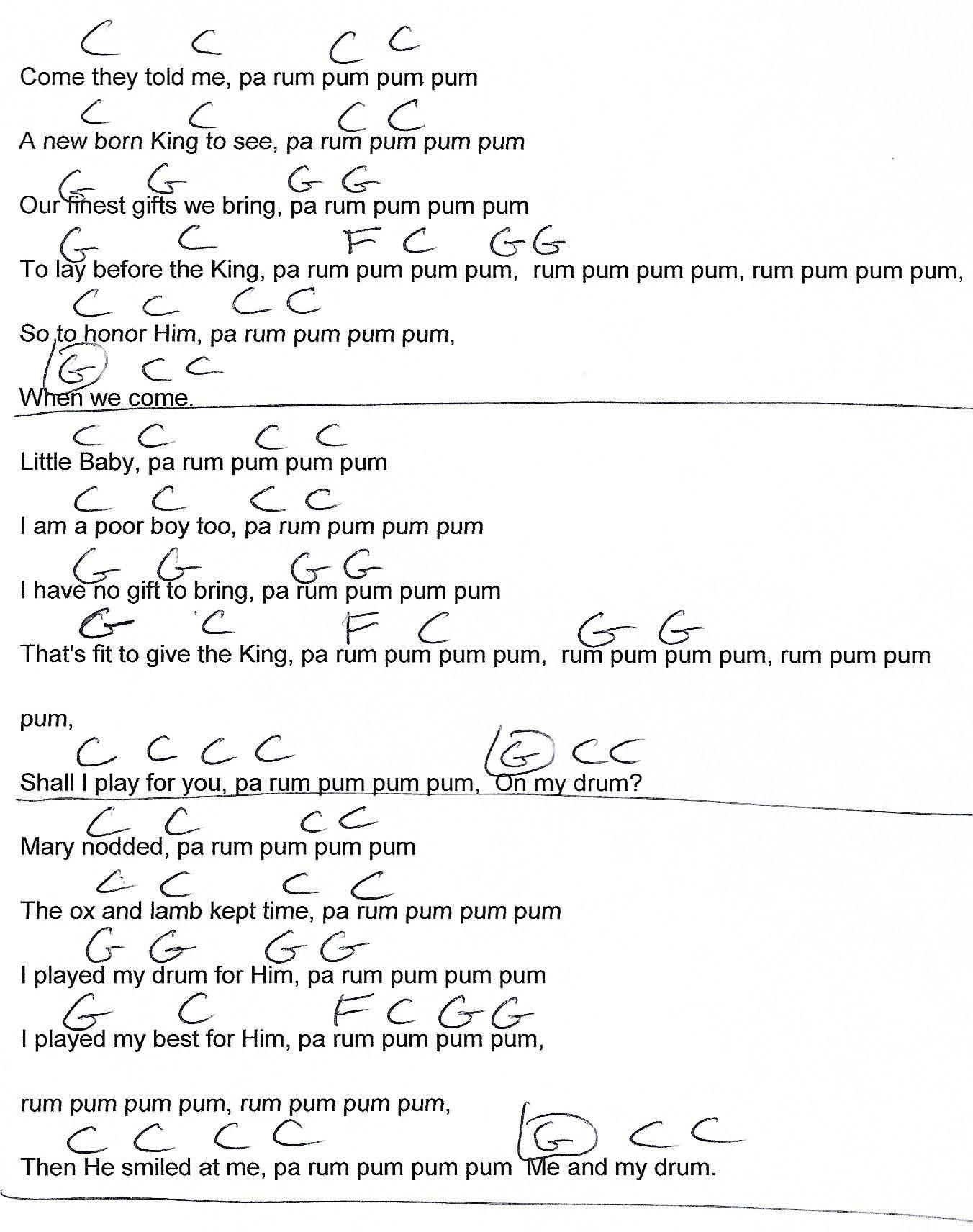 little drummer boy sheet music pdf