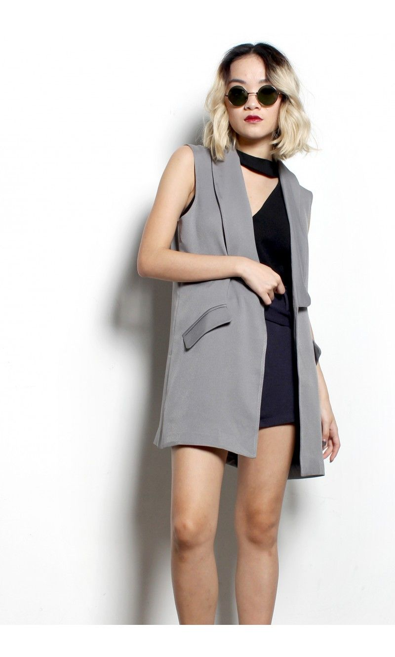 So Fly Vest In Grey Young Hungry Free Young Hungry Dresses For Work Vest