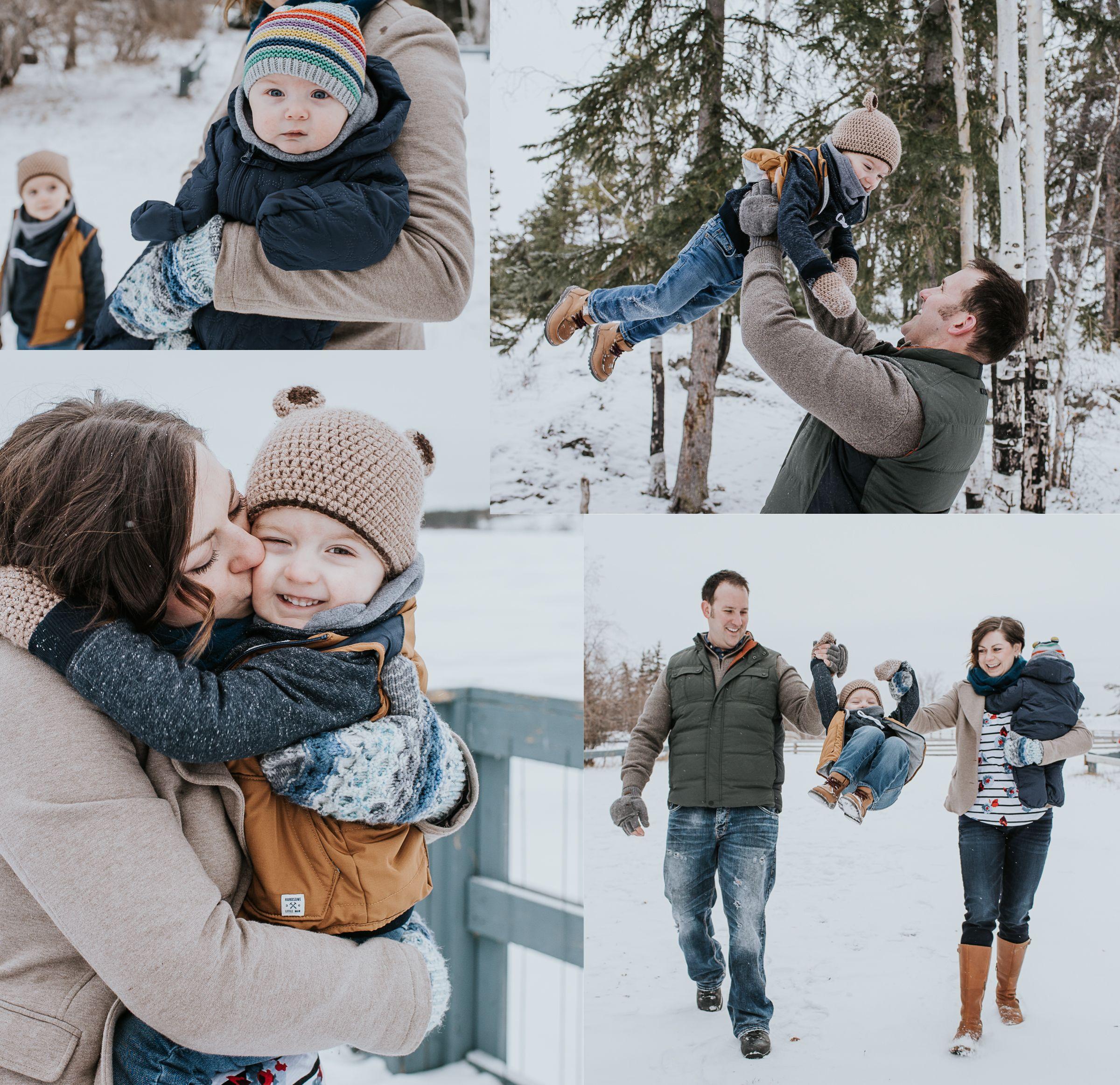 поворот идеи для фотосессии семьей зимой стоит