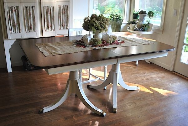 Dining Table Before And After Plus Tutorial Antique Dining