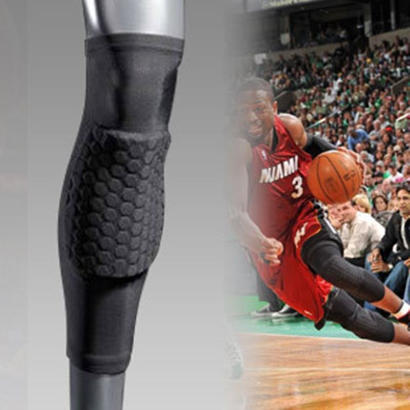 Hex Pad Extended Long Leg Sleeve Calf Shin Knee Pad Protection Pro-Level  Sports Care