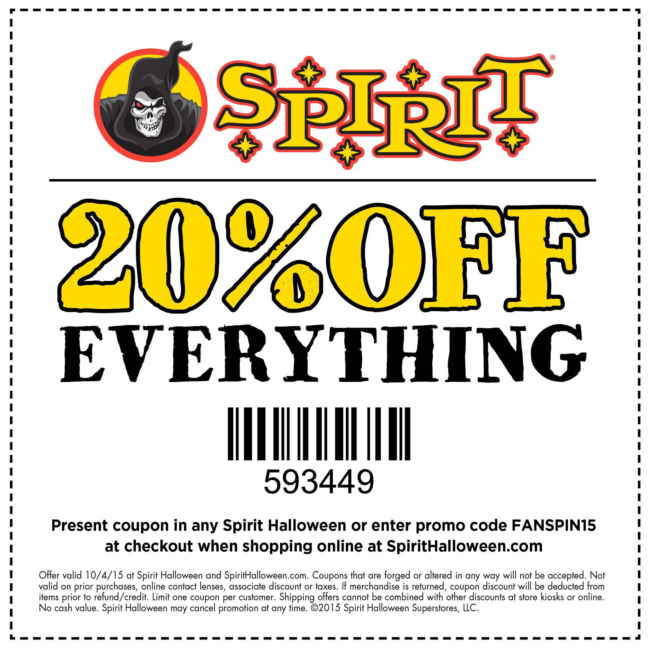 Spirit Halloween Promo Codes 2020 Don't miss out! Save on all your deadly decorations & creeptastic
