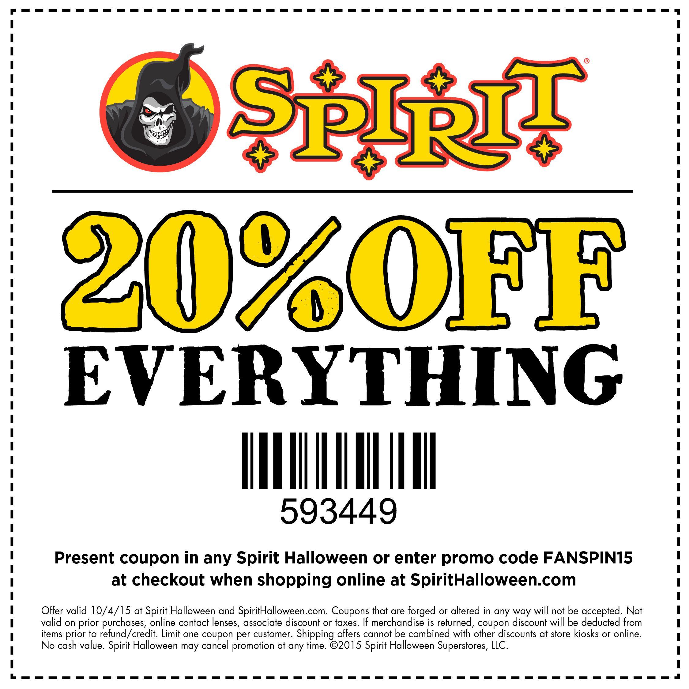 Spirt Of Halloween Printable Ciupon 2020 Here's a terrifyingly terrific treat for Spirit Halloween fans
