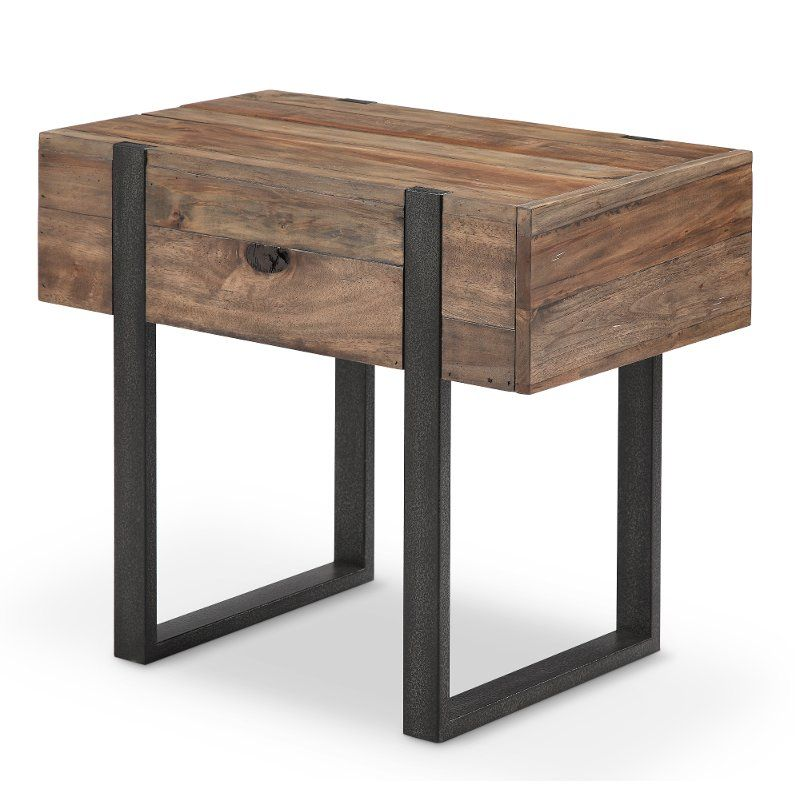 Rustic Honey Brown Chair Side Table Prescott Modern End Tables End Tables Chair Side Table