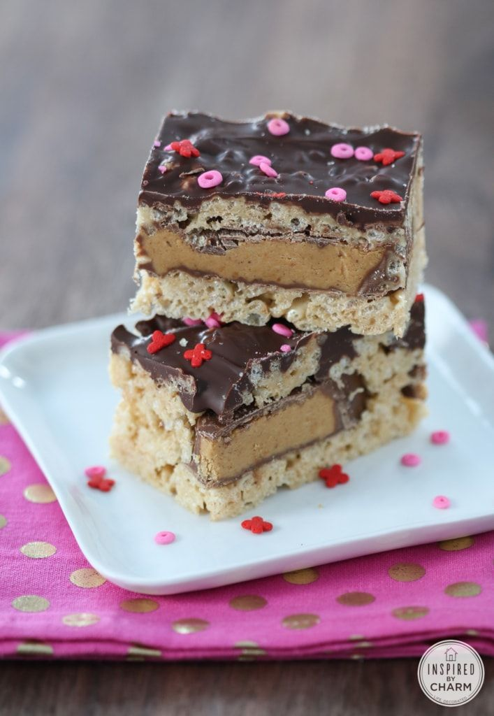 Peanut Butter Cup Rice Krispies Treats   Inspired by Charm ...