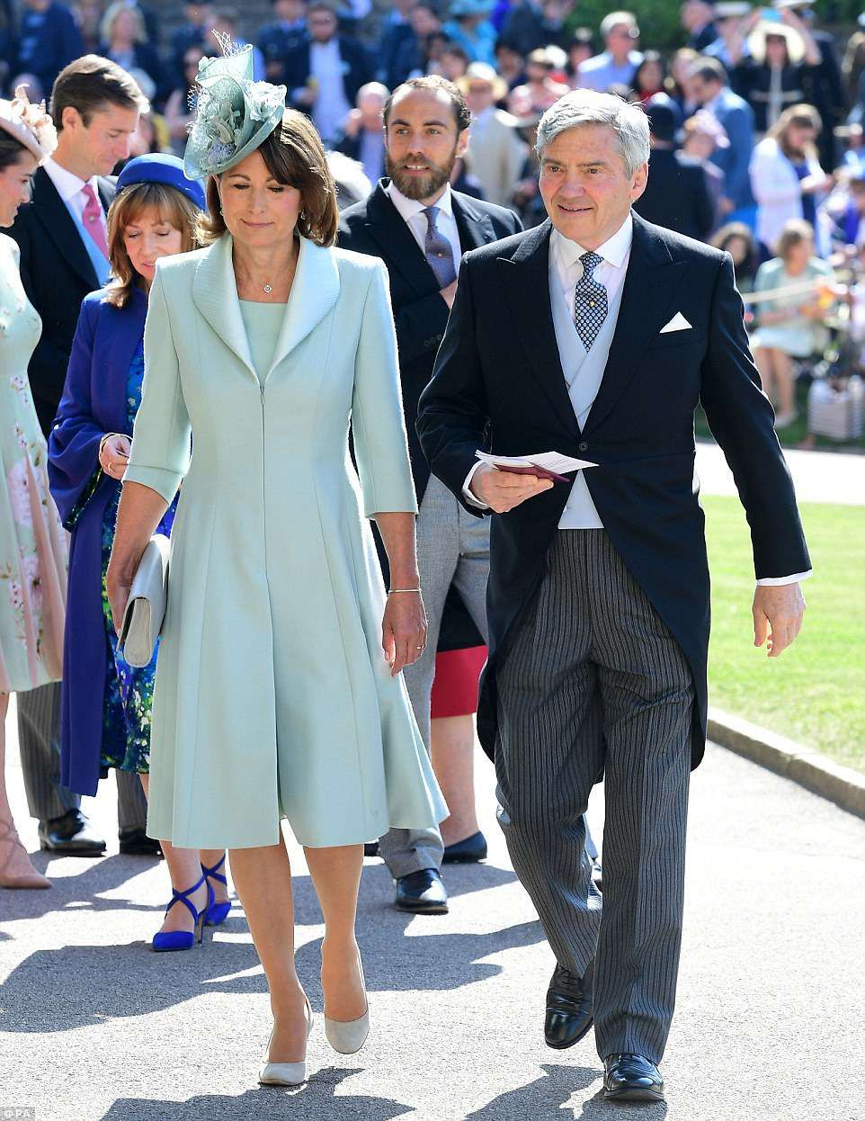 Queen Is Flanked By Prince Philip As They Attend Royal Wedding