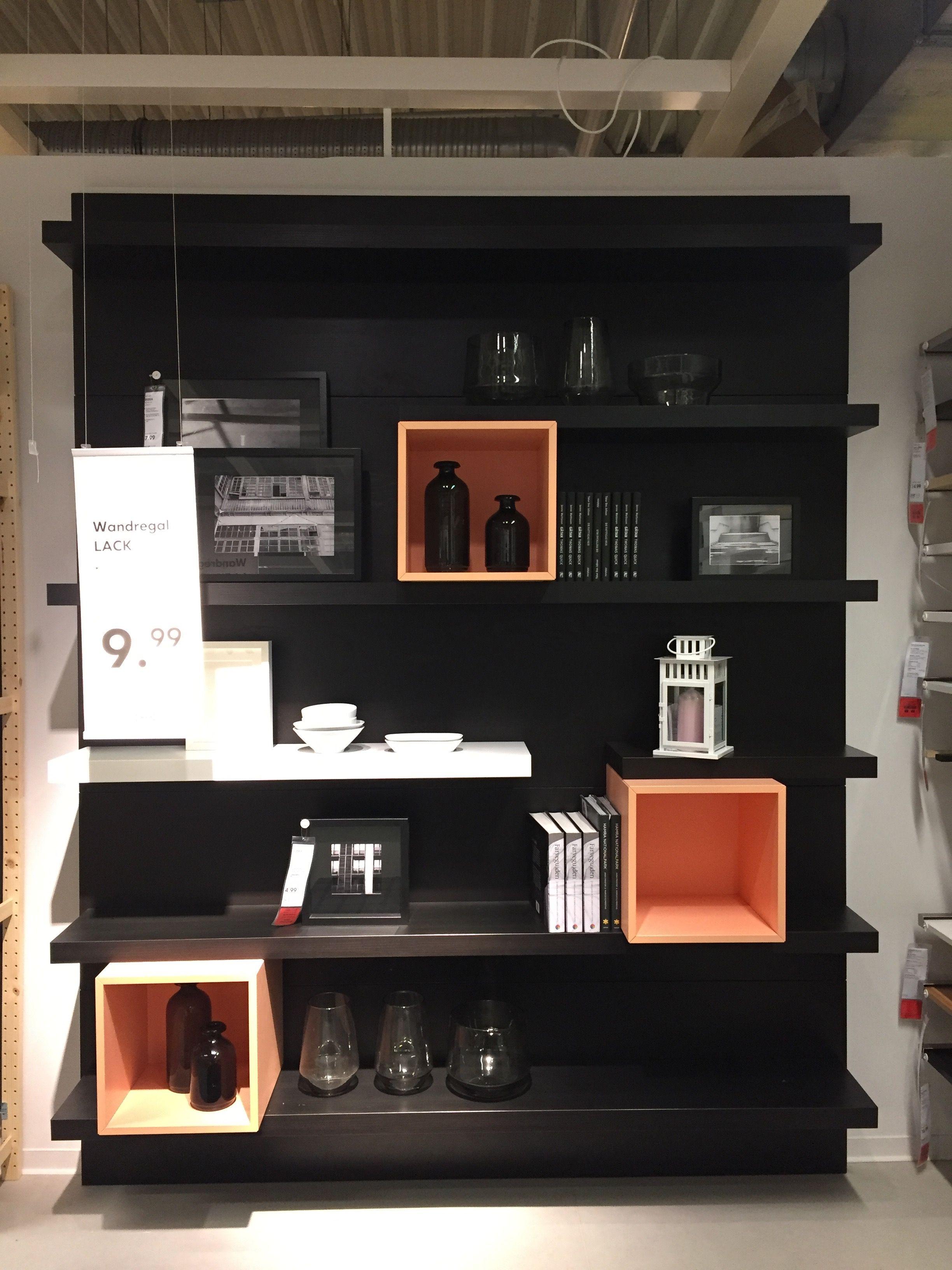 Ikea Lack Und Eket Arredamento Idee Per Soggiorni Libreria Soggiorno