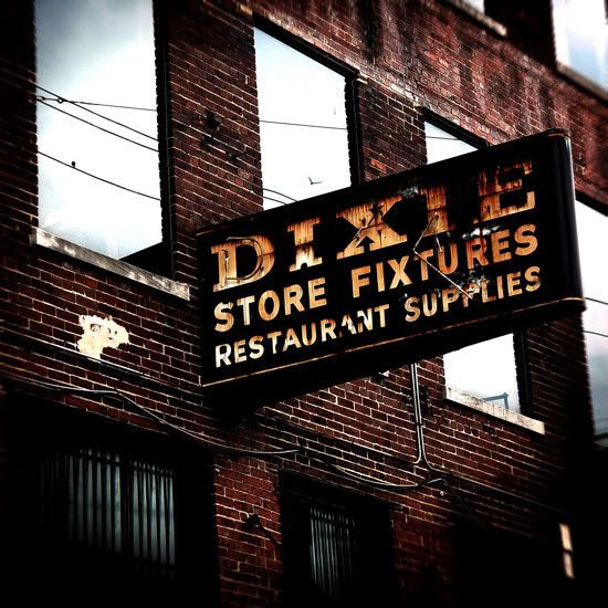 Dixie store fixtures restaurant supplies vintage metal