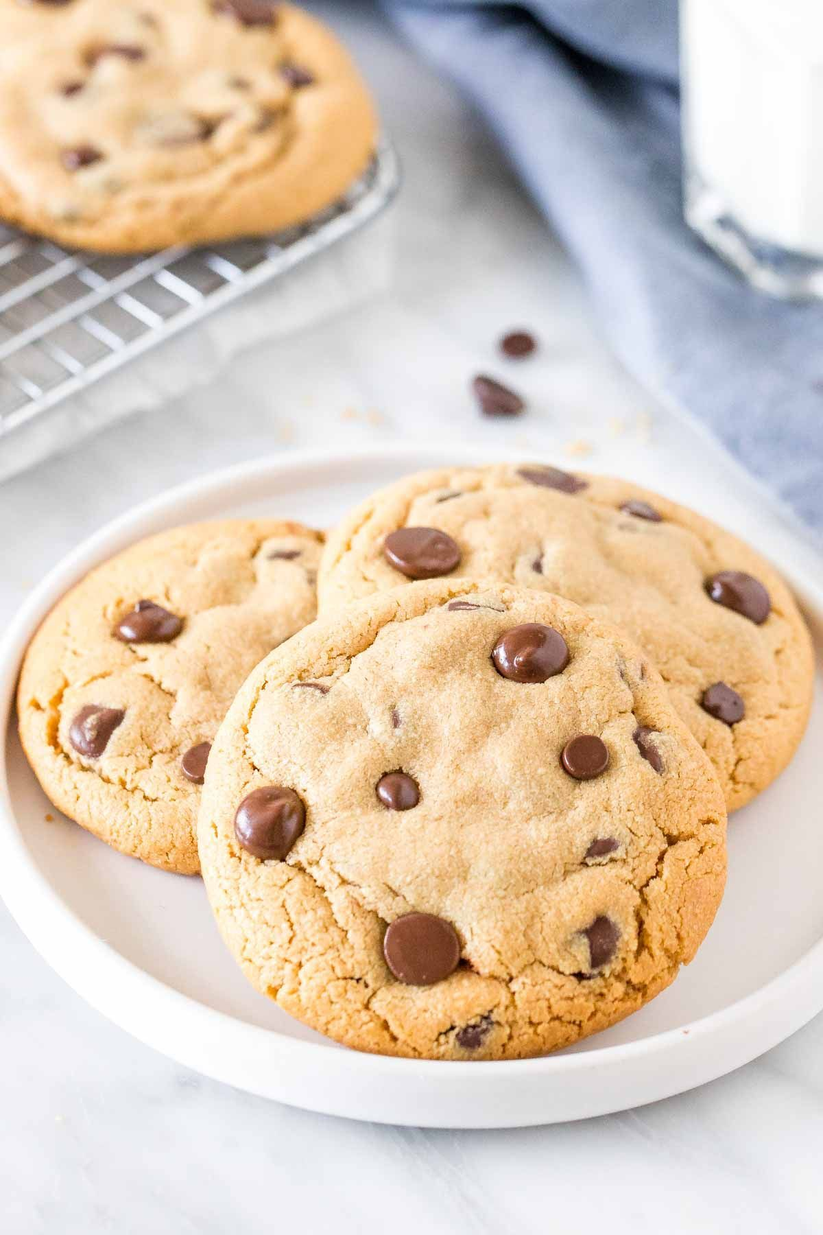 Peanut Butter Chocolate Chip Cookies Recipe Peanut Butter Chocolate Chip Cookies Chocolate Chip Cookies Cookie Recipes