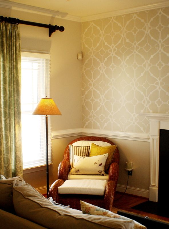 stenciled walls in master bath? maybe | My sweet home | Pinterest ...