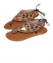 Bow leather sandals Surkana