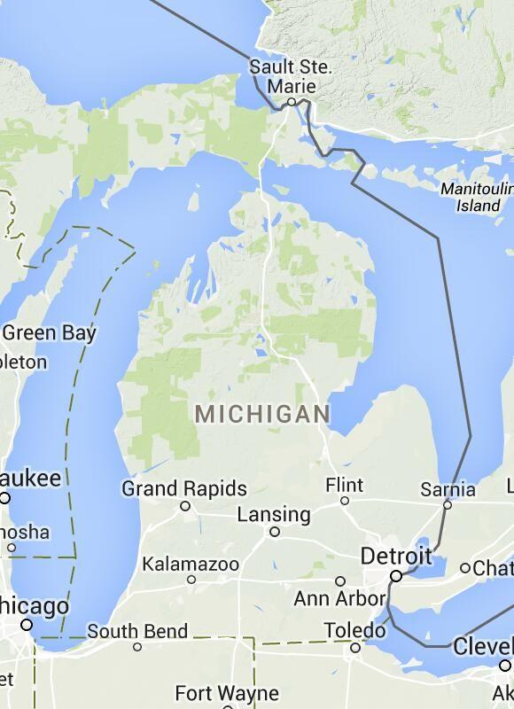state parks in michigan map Michigan State Park Campground Map Michigan State Parks State