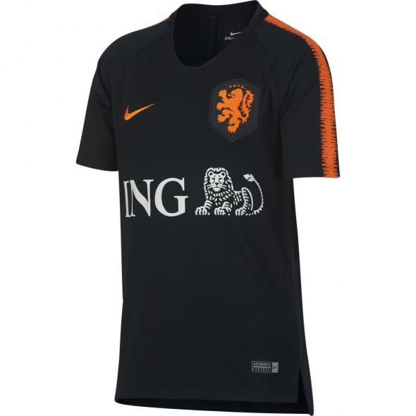 412b8ee2aaad0 Nike Nederland Breathe Squad Trainingsshirt 2018-2020 Kids Black Safety  Orange