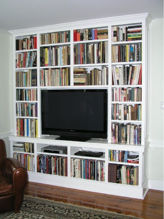 Built In Cabinetry For Your Flat Screen Tv Made By Custommade Tv Bookcase Built In Bookcase Bookshelves With Tv