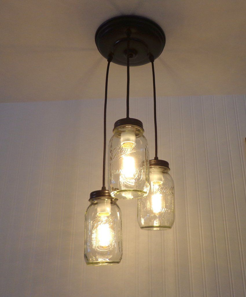 Mason jar chandelier light trio new quarts mason jar light fixture mason jar chandelier light trio new quarts mason jar light fixture the lamp goods aloadofball Image collections