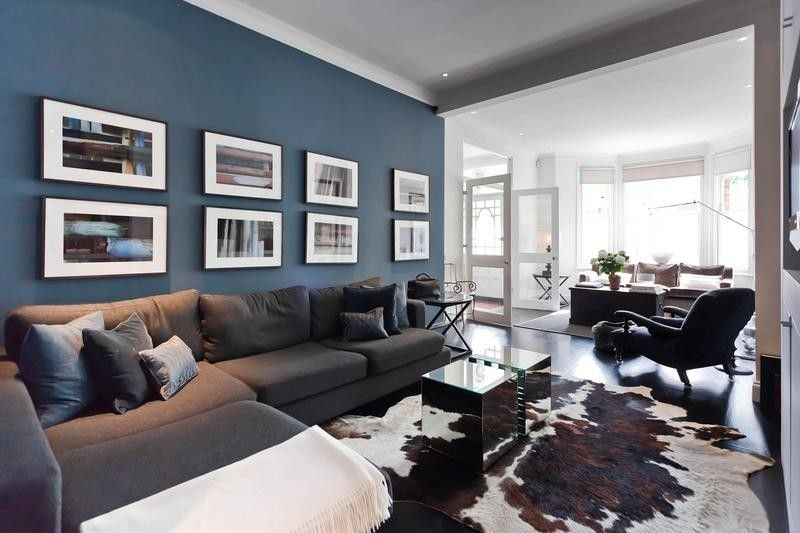 colour schemes for living rooms with brown leather sofa complete room sets cheap best 25+ blue feature wall ideas on pinterest ...