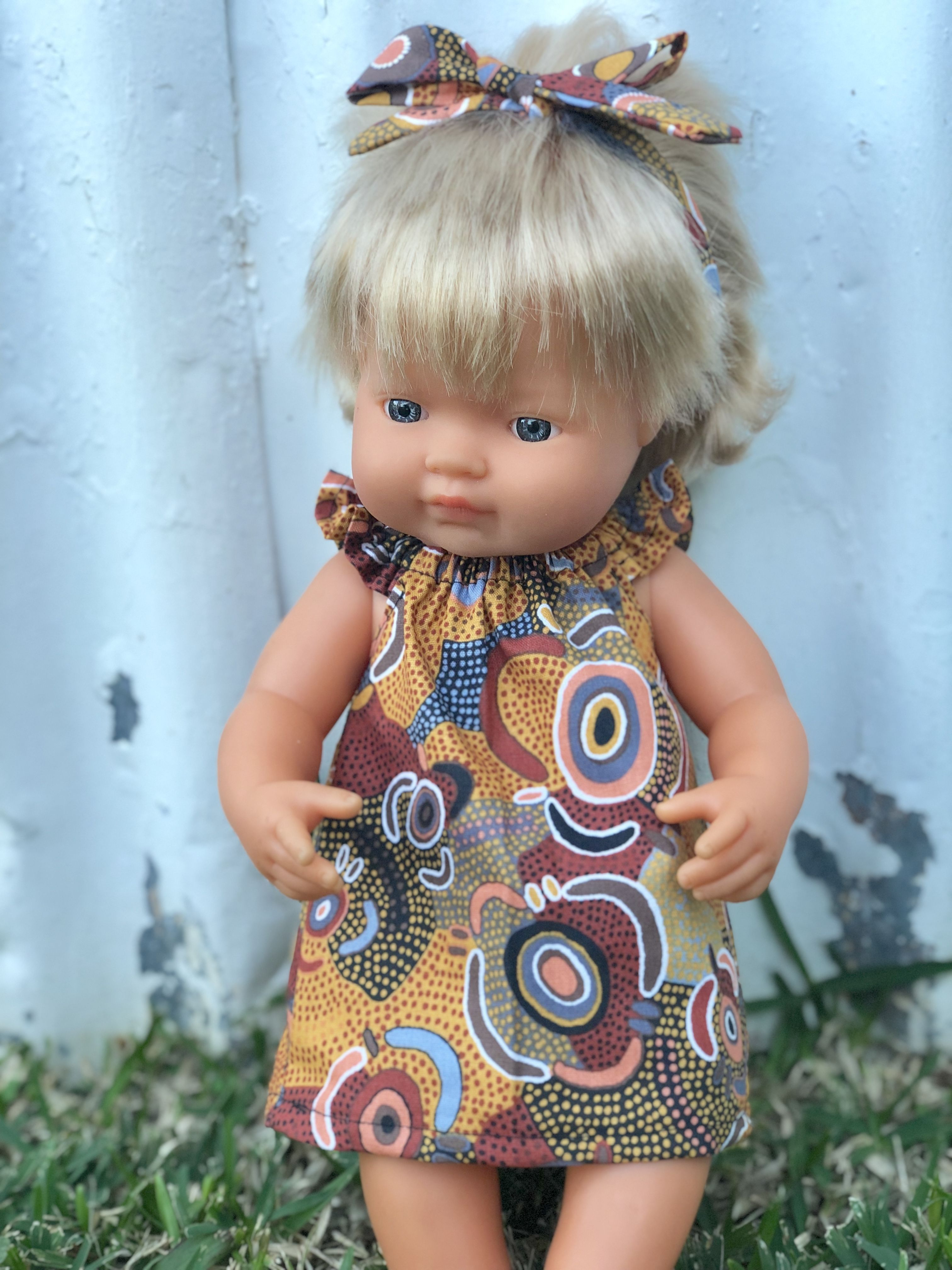 Indigenous Dolls Clothes Australian Handmade by