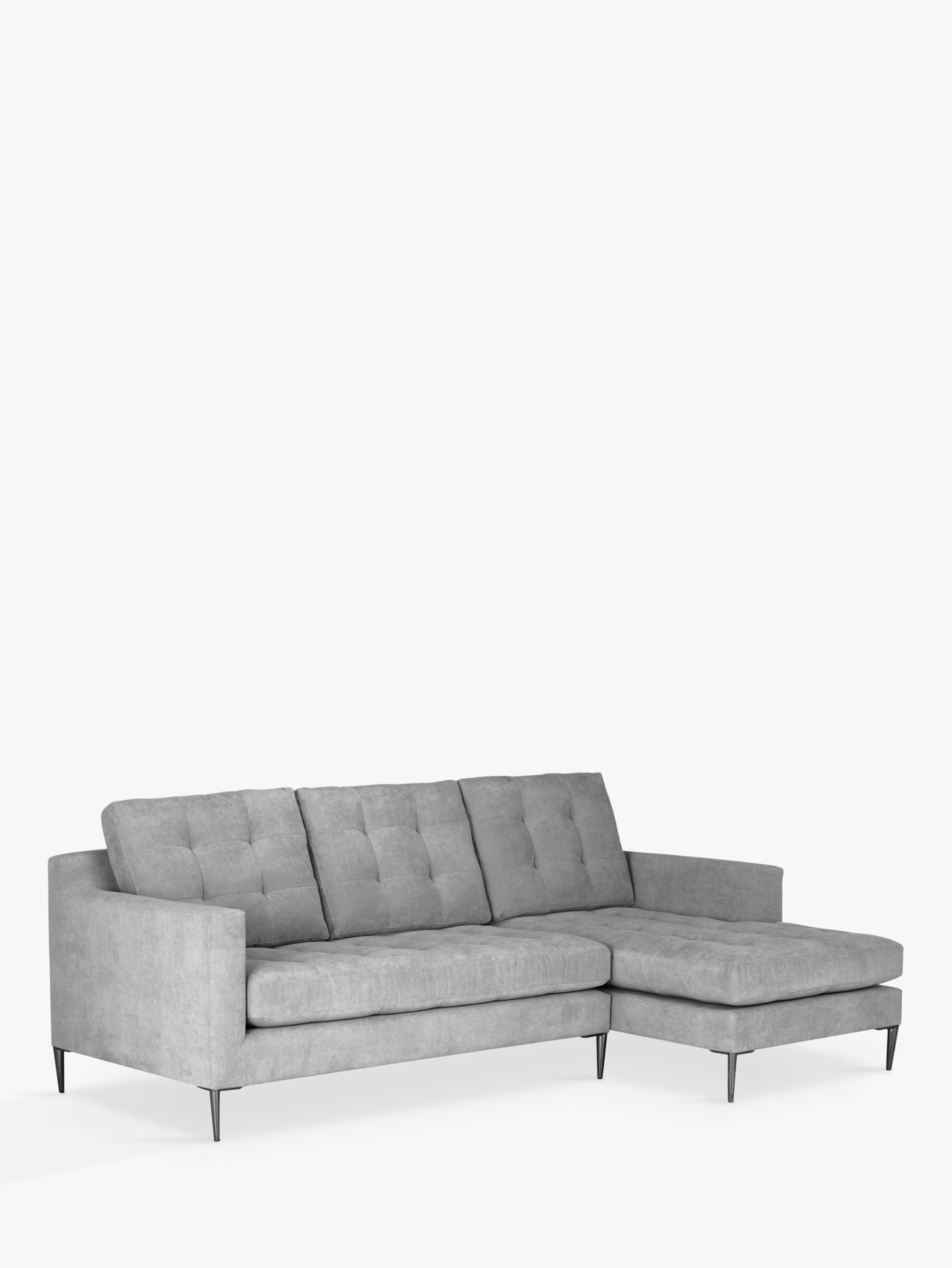 John Lewis Partners Draper Rhf Chaise End Sofa Metal Legs Metal Sofa Sofa Sofa Legs