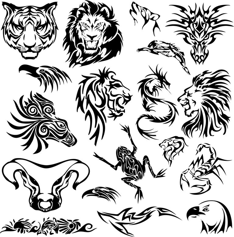 Tribal Tattoo Designs The Body Is A Canvas Tribal Animal Tattoos Tribal Animals Tribal Tattoos