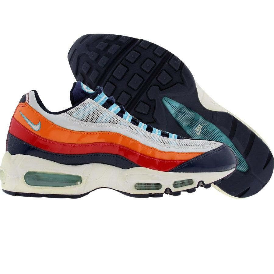 Nike Womens Air Max 95 (white   white   flash   flame red) 698014-113 -   179.99 c11f502f1