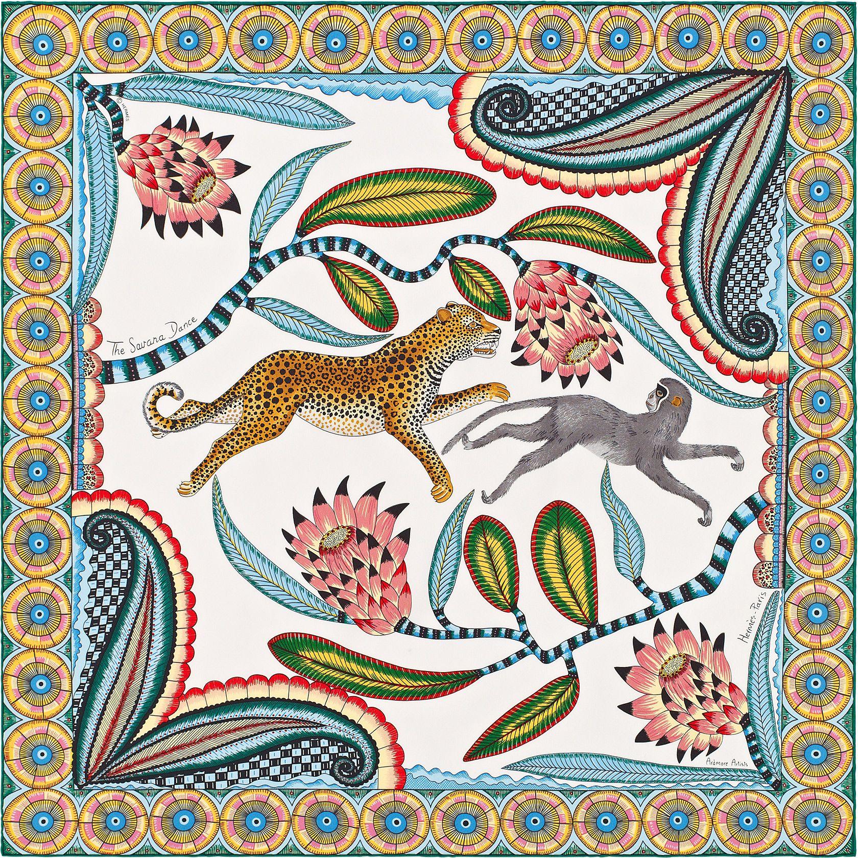 4df63b41ab8b The Savana Dance, Hermes Spring Summer 2016 Scarves   illustration ...