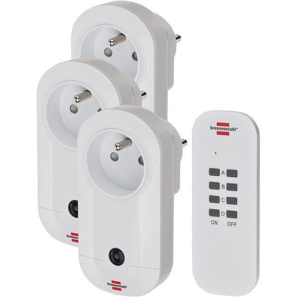 3 Prises Telecommandees Et 1 Telecommande Brennenstuhl Telecommande Multiprise Et Domotique