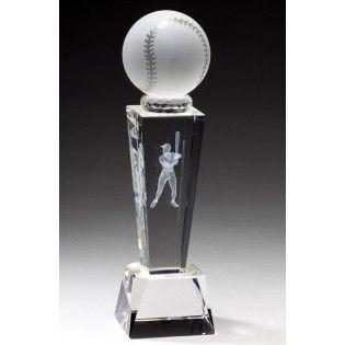 Crystal Baseball With Crystal Stand /& Gift Box