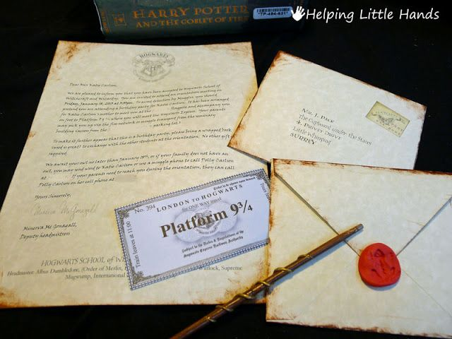 Pieces By Polly Printable Hogwarts Acceptance Letters Or Harry Potter Party Invitiation Harry Potter Buchstaben Harry Potter Selber Machen Harry Potter Thema