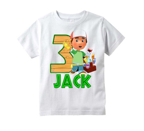 Handy Manny Shirt Tools Birthday T-Shirt by TheMemoryMakers