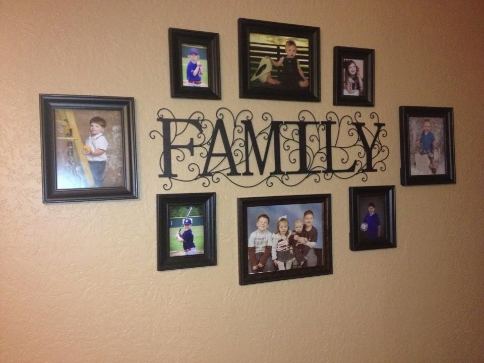 Family sign I found at Hobby Lobby with pictures of my