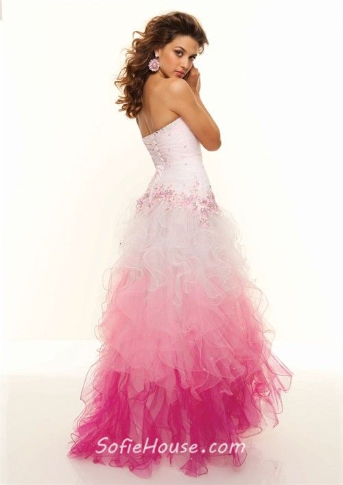 Multi Color Prom Dresses Sweetheart Floor Length White Red