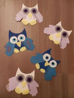 DayCareMummy Handprint Owls
