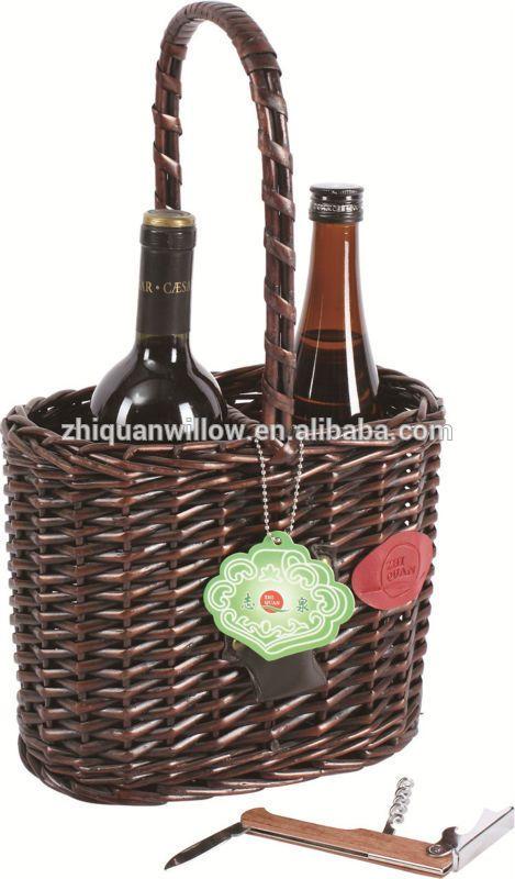 Wicker Wine Bottle Holder