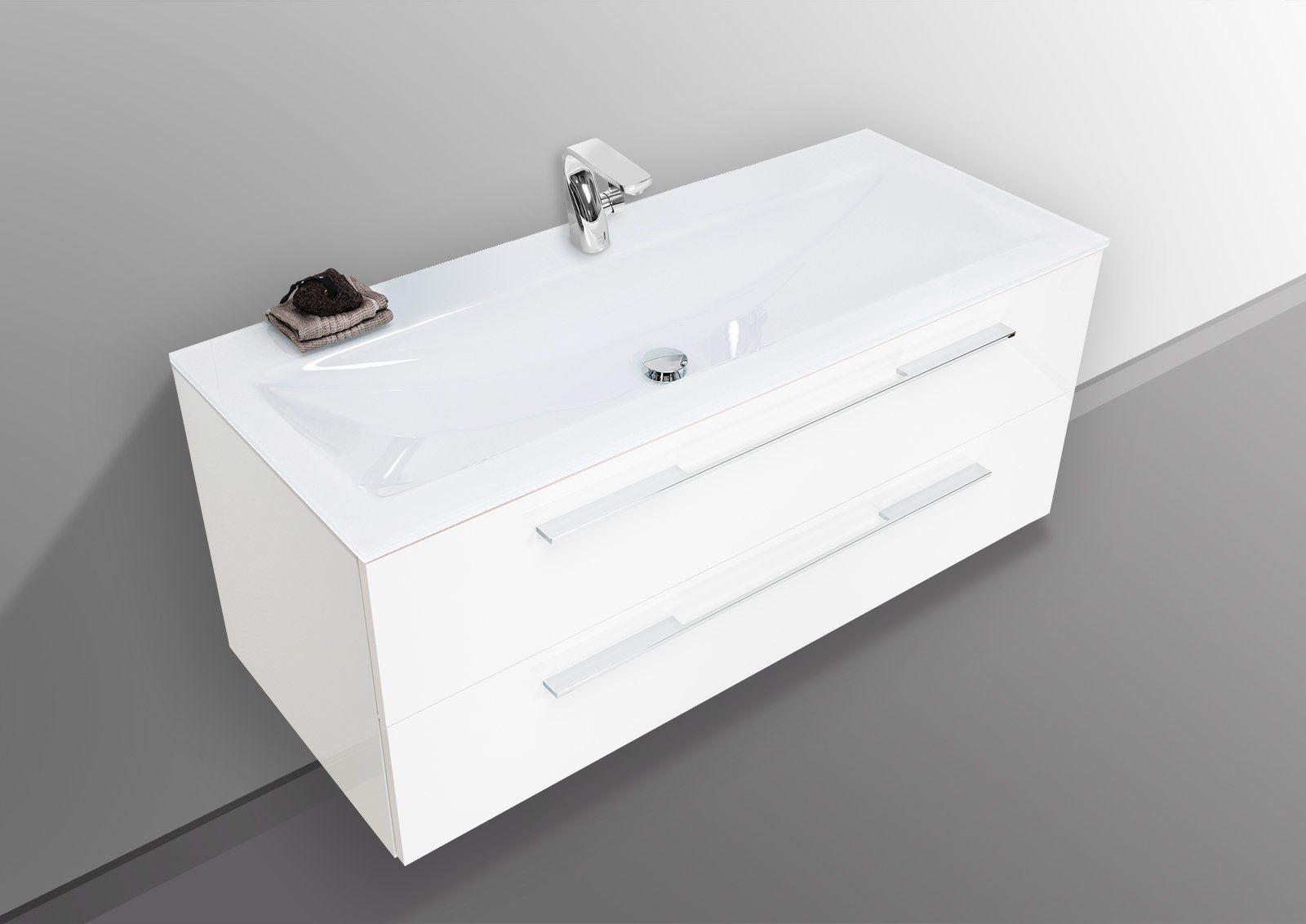 Designbaeder Com Waschtisch 120 Cm Unterschrank Bad Set