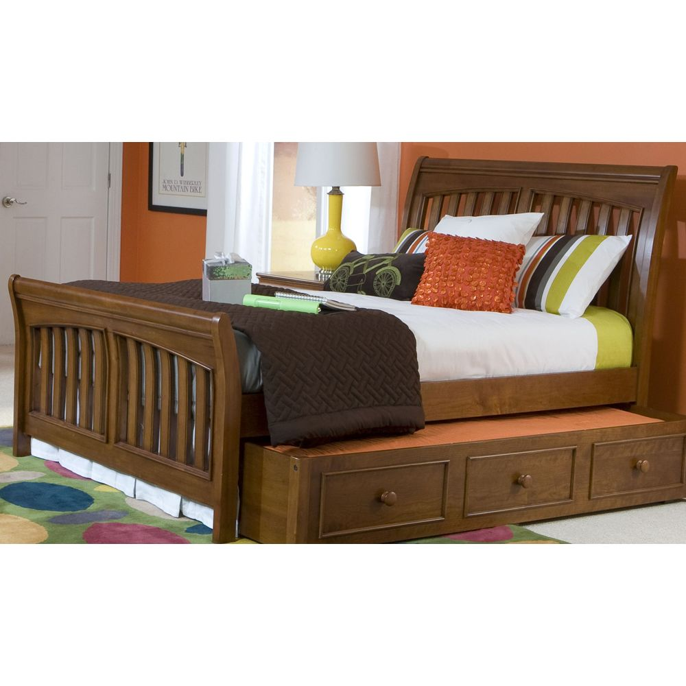 Cinnamon Youth Full Sleigh Bed Or Twin Available 3 Trundle Bed Sleigh Beds Bed
