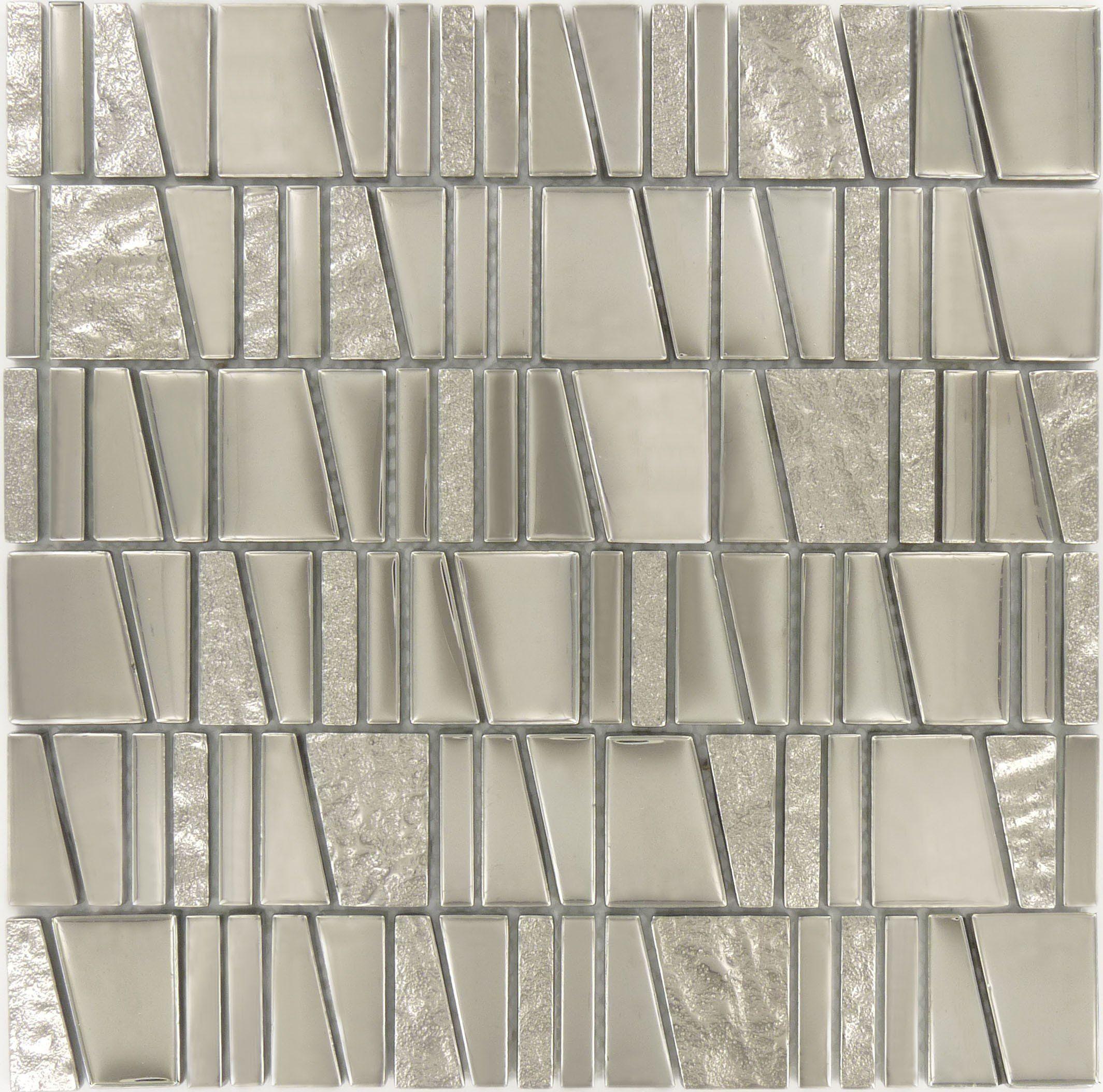 """Sheet Size: 11 3/4"""" X 11 3/4""""Tile Size: Unique ShapesTiles"""