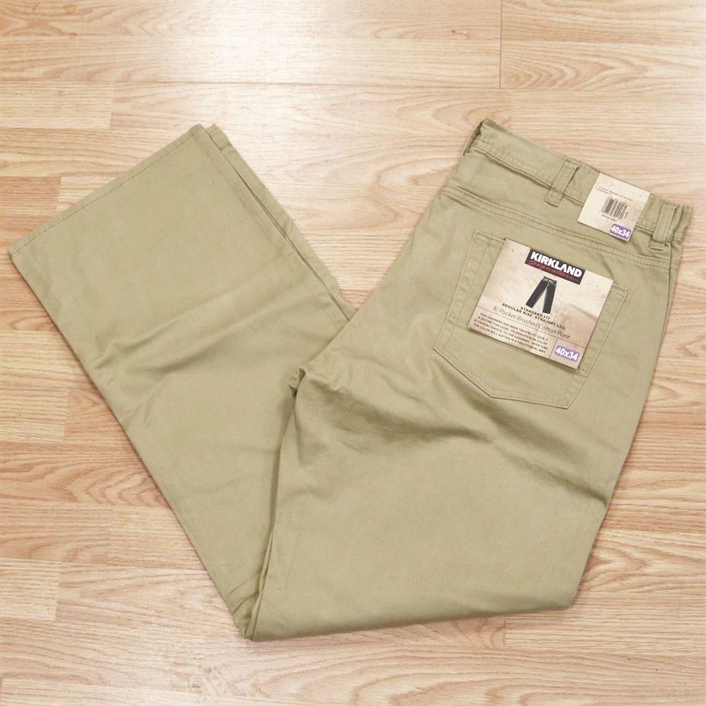 fc011a86486c Kirkland Signature Mens Standard Fit 5-Pocket Brushed Cotton Pants Khaki 40  x 34  fashion  clothing  shoes  accessories  mensclothing  pants (ebay link)