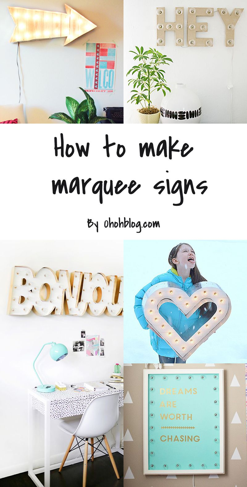 5 Diy To Try Marquee Signs Home Decor Is Never A Chore