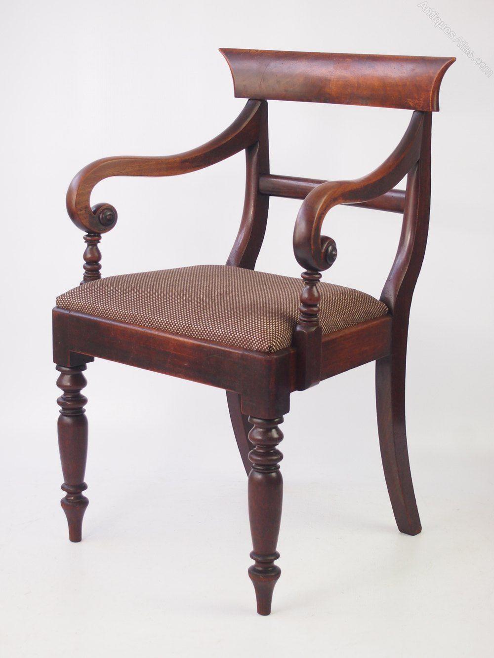 Victorian Mahogany Open Armchair Or Desk Chair Antiques Atlas Com Imagens Moveis Cadeiras