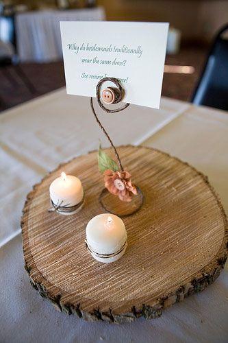 ide de centre de table rustique avec un rondin en bois - Rondin De Bois Deco