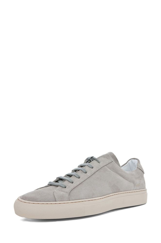 "COMMON PROJECTS New Suede Leather ""Vintage Gray"" Low Top Sneakers 10/43 NIB $425 #COMMONPROJECTS #FashionSneakers"