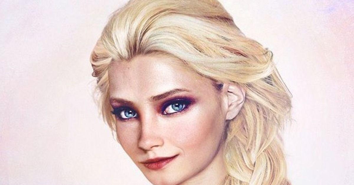 "Aritst Jirka Väätäinen adds 'Frozen' characters Anna and Elsa to his ""Real Life Disney"" series."