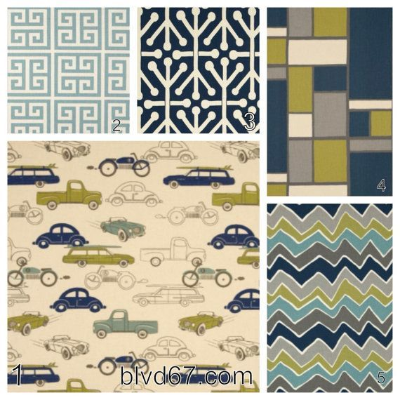 4 Piece Crib Bedding Set In Vintage Cars Including Colors