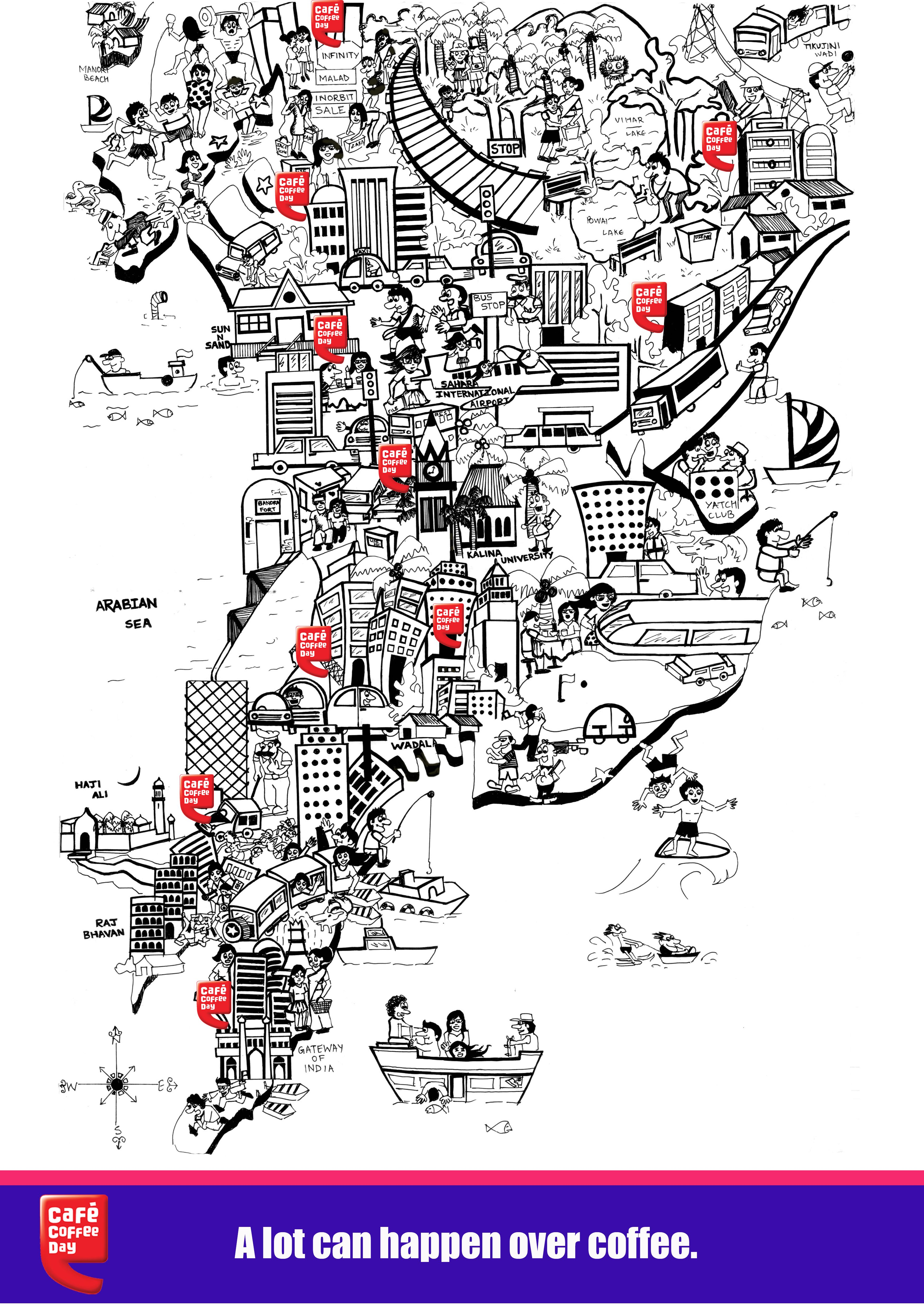 CCD Mumbai Map Blackandwhite Illustration Artlife Pinterest - Artist creates ridiculously detailed paper cuts of city maps