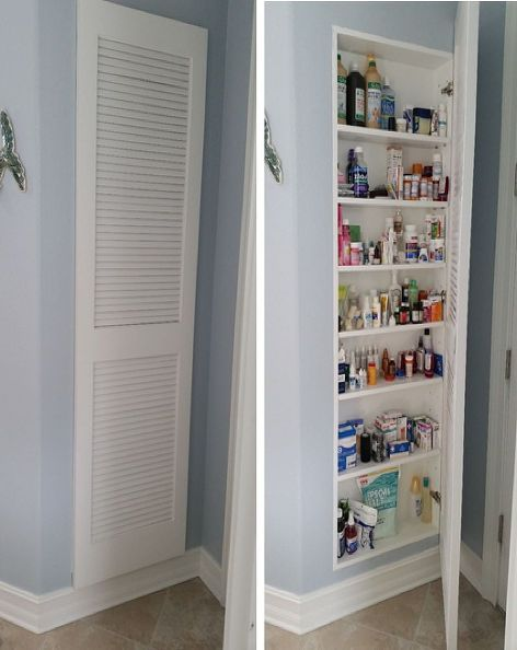 Full Size Medicine Cabinet Storage Idea, Recessed Mirror Cabinet For Stud Walls