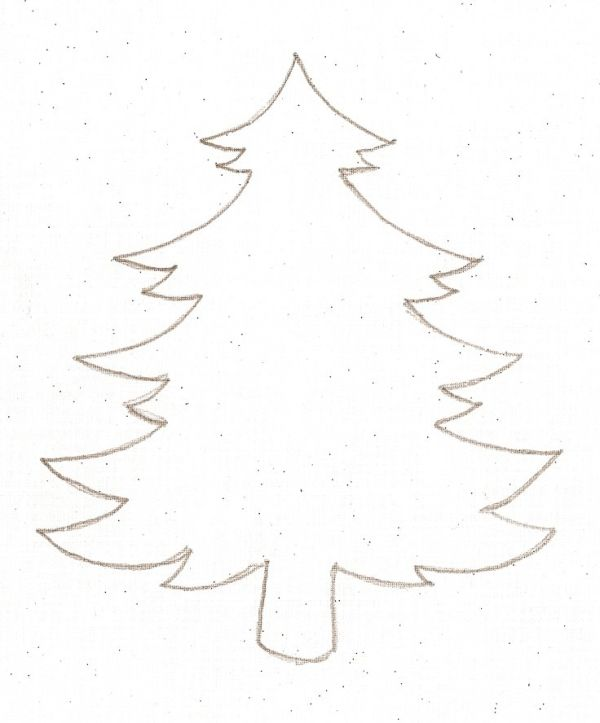 Christmas tree template by marjorie Crafts  DIY - Kids - christmas tree printables