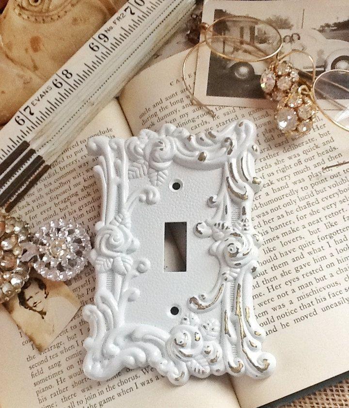 White Decorative Light Switch Covers Brilliant Metal Wall Decorlight Switch Coverin White Shabby Chicsingle Design Decoration