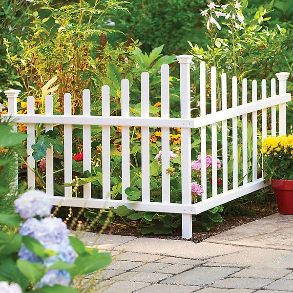 Improvements No Dig Vinyl 2 Piece Corner Picket Fence 50