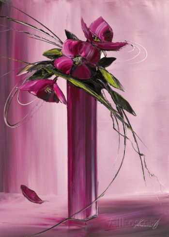 Bouquet Violet I Poster Von Olivier Tramoni Bei Allposters De